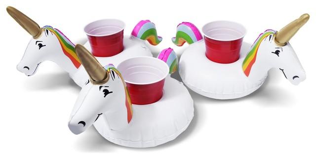 GoFloats Unicorn Drink Floats, Set of 3