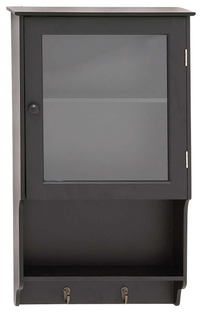 Stylish and Classic Inspired Delightful Wood Glass Wall Cabinet Home ...