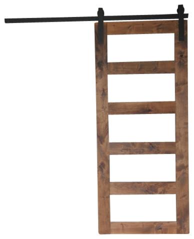 "Contemporary 5-Panel Sliding Barn Door, 7'6""x3'6"""
