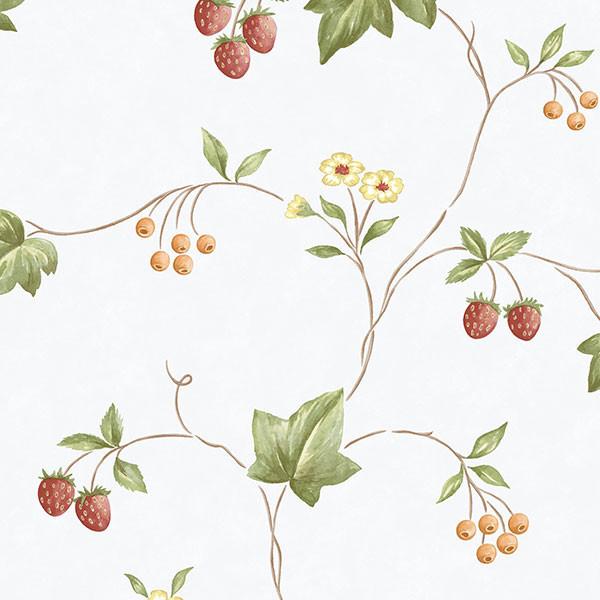 Strawberry Vine Kk26752 Wallpaper Traditional