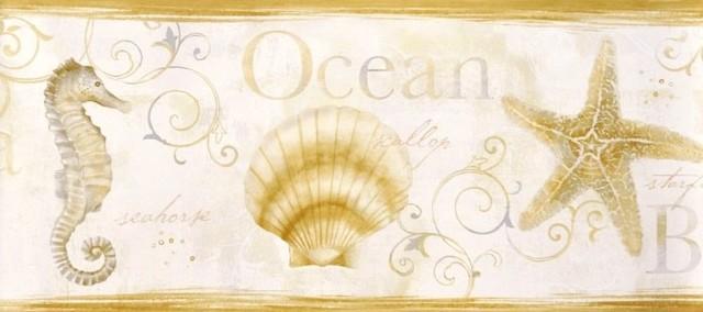 Dlr53563b Island Bay Border Beach Wallpaper Style Paper