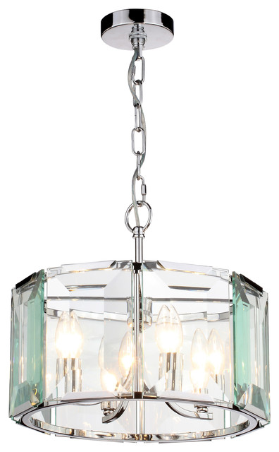 Xantha Glass Drum Pendant Light.
