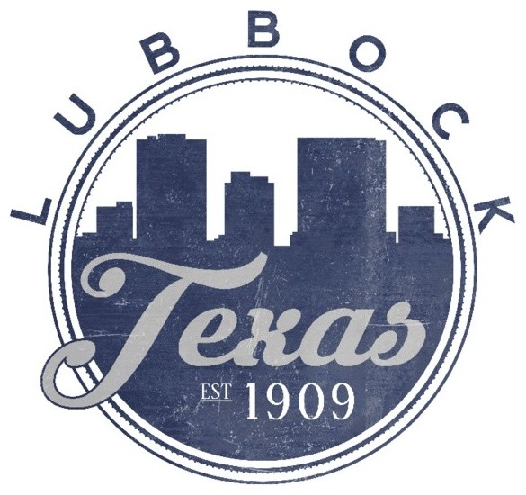Quot Lubbock Texas Skyline Seal Blue Quot Print Contemporary