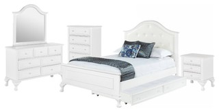 Elements Jenna 5-Piece Twin Bedroom Set, White, Full