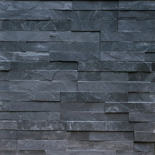 Thin Natural Ledgestone Wall Panel Canyon Charcoal