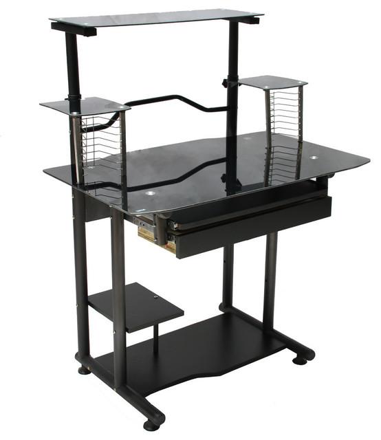 Glass Computer Desk - Modern - Desks And Hutches - by Hodedah ...