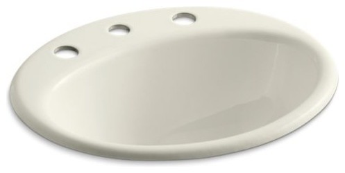 Kohler Farmington Self Rimming Lavatory With 8 Quot Centers Contemporary Bathroom Sinks By The
