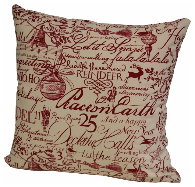 Traditional Accent Pillows : RR Design Group - Christmas pillow by RR Design Group & Reviews Houzz