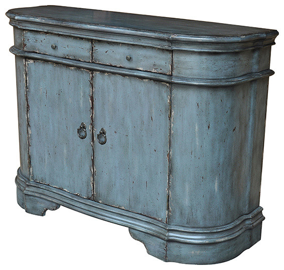Harrison Distressed Grey 2 Door Cabinet - Traditional - Buffets And Sideboards - by Fratantoni ...