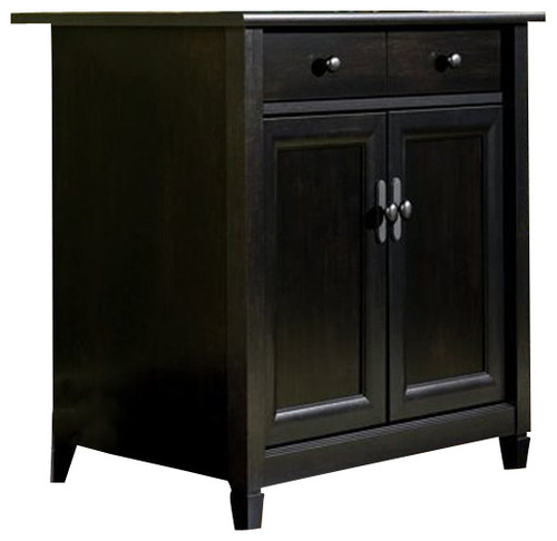 Sauder Edge Water Utility Stand in Estate Black