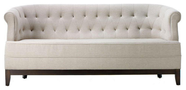 Emma Sofa In Textured Natural Transitional Sofas