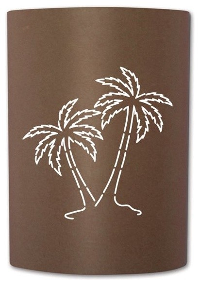 Palm Tree Sconce Tropical Outdoor Wall Lights And
