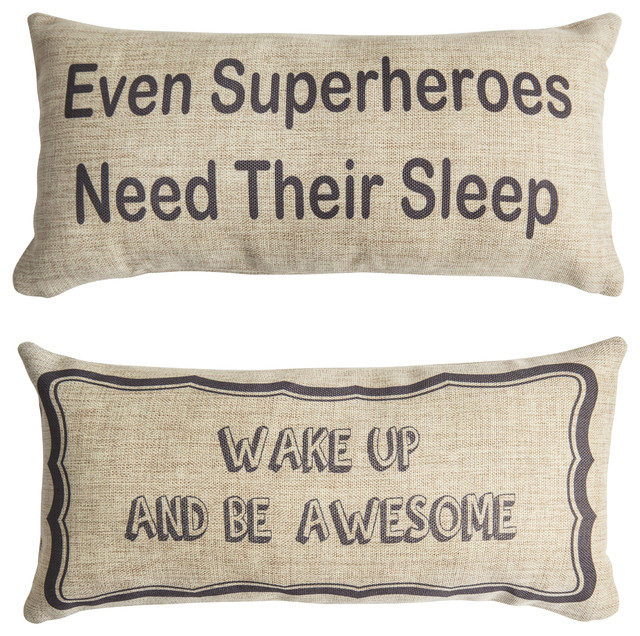 Super Hero Comics Be Awesome Message Gifts Double Sided Pillow.