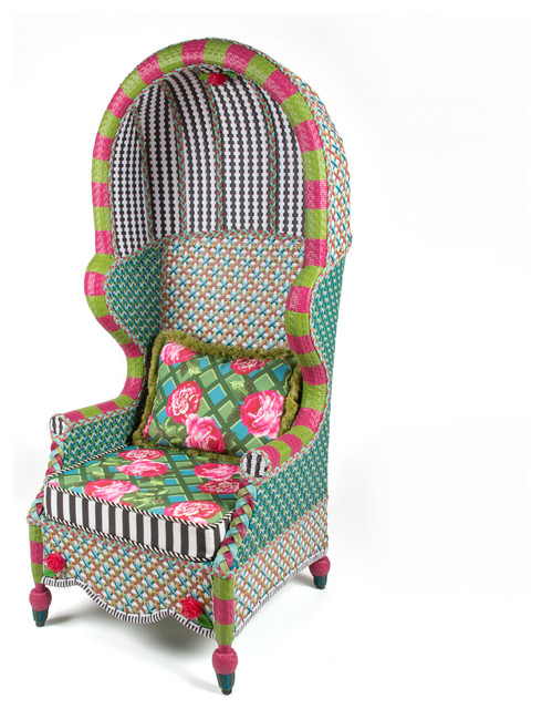 Awesome Greenhouse Outdoor Bonnet Chair | MacKenzie Childs Eclectic Outdoor Lounge  Chairs