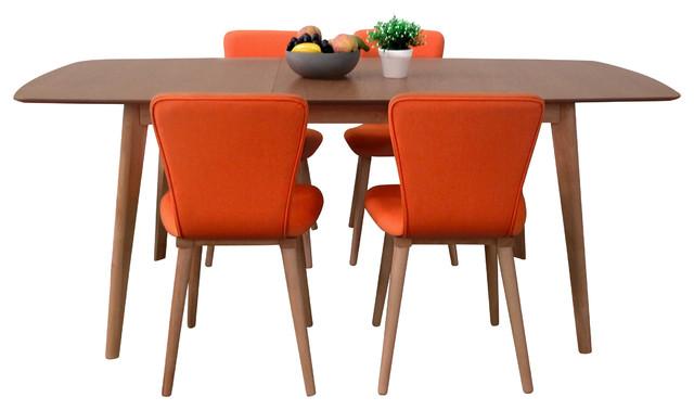 Etonnant Vicky 5 Piece Dining Set, Tangerine