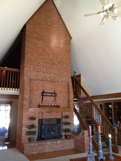 80 S Fireplace Stairs And Loft Needs Updating