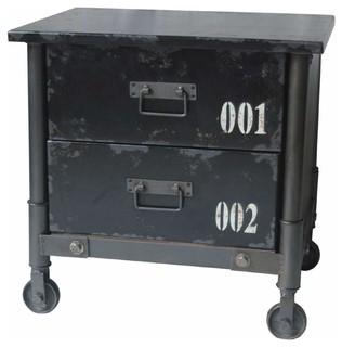 Soho 2 Drawer Cabinet, Black