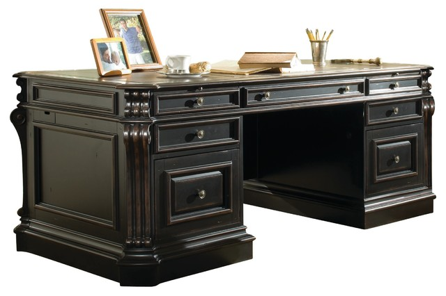 Telluride 76 Executive Desk With Wood Panels