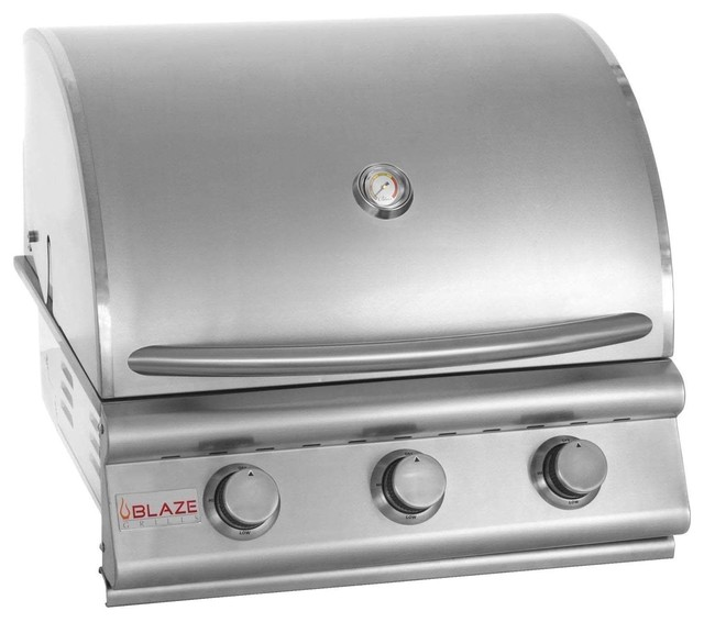 Lloyd Built-In 3-Burner Grill, Propane Gas.