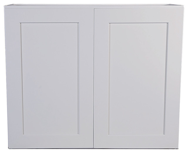 Brookings 33 Fully Assembled Kitchen Wall Cabinet, White Shaker.