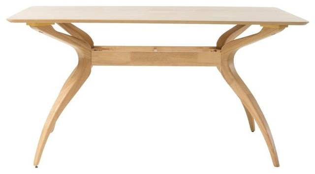 Seraphim Natural Oak Finish Wood Dining Table.