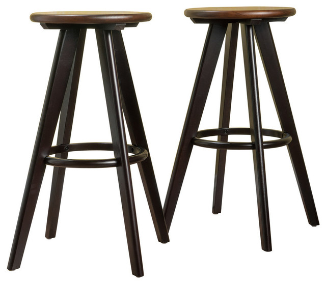 Marvelous Gdf Studio Byre Traditional Wood Finished Bar Stools Walnut Set Of 2 Pdpeps Interior Chair Design Pdpepsorg
