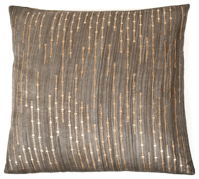 Sequence Decorative Pillow, Charcoal.