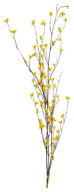 forsythia bush yellow 46 traditional artificial flower arrangements - Forsythia Arrangements