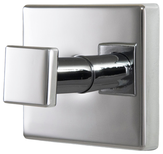 primo single robe hook polished chrome modern robe and towel hooks
