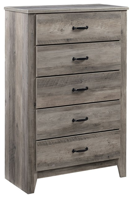 Standard Furniture Barnett 5-Drawer Chest, Rustic Pine 62405.