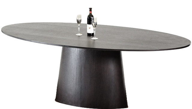 Stepford Modern Wenge Oval Dining Table contemporary-dining-tables