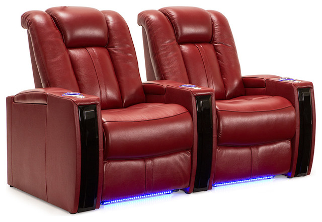Seatcraft Seatcraft Monaco Home Theater Seating Scarlet