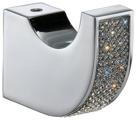 Cecilia Swarovski Crystal Towel Hook Polished Chrome