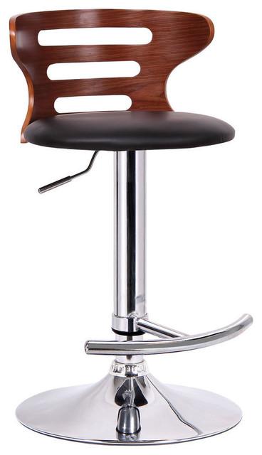 Awesome Baxton Studio Buell Walnut And Black Modern Bar Stool Uwap Interior Chair Design Uwaporg