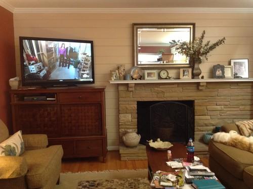 Off center fireplace vs. TV cabinet advice needed