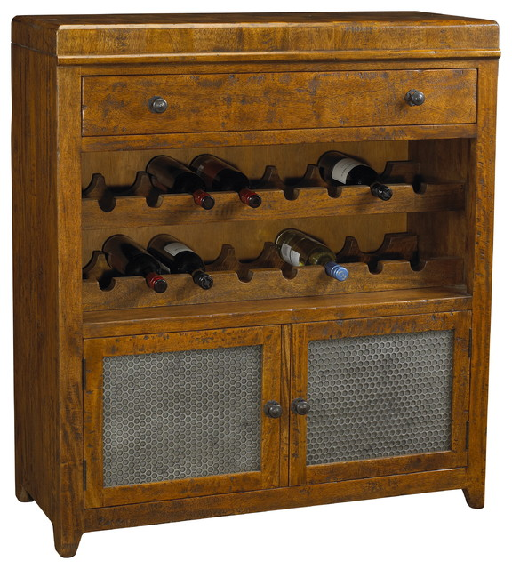 French Heritage Toulouse Wine Cabinet - Farmhouse - Buffets And Sideboards - by French Heritage