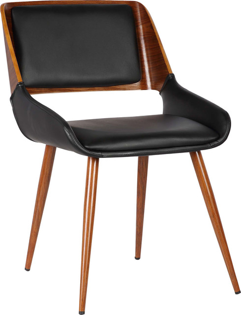 Royston Dining Chair, Black Faux Leather.