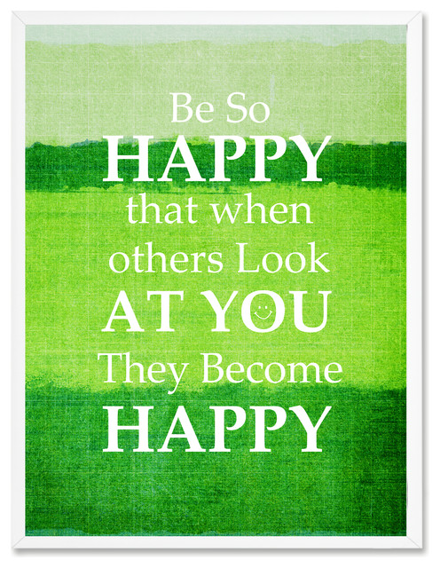 Be So Happy Others Look At You Motivation Quote Canvas Picture