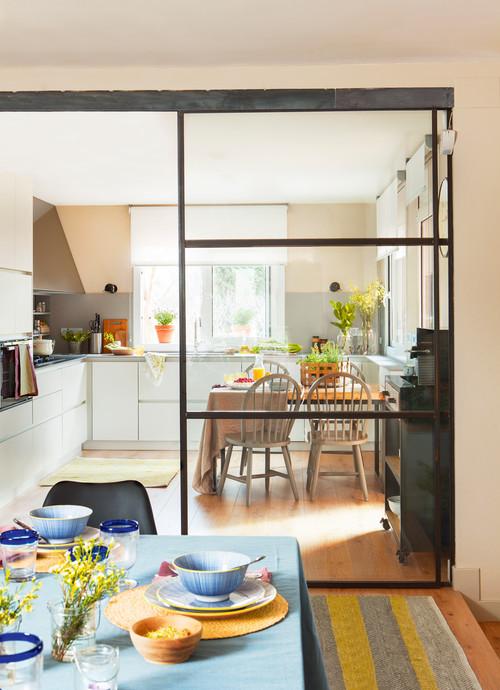 Dise o cocina peque a for Puertas correderas pequenas