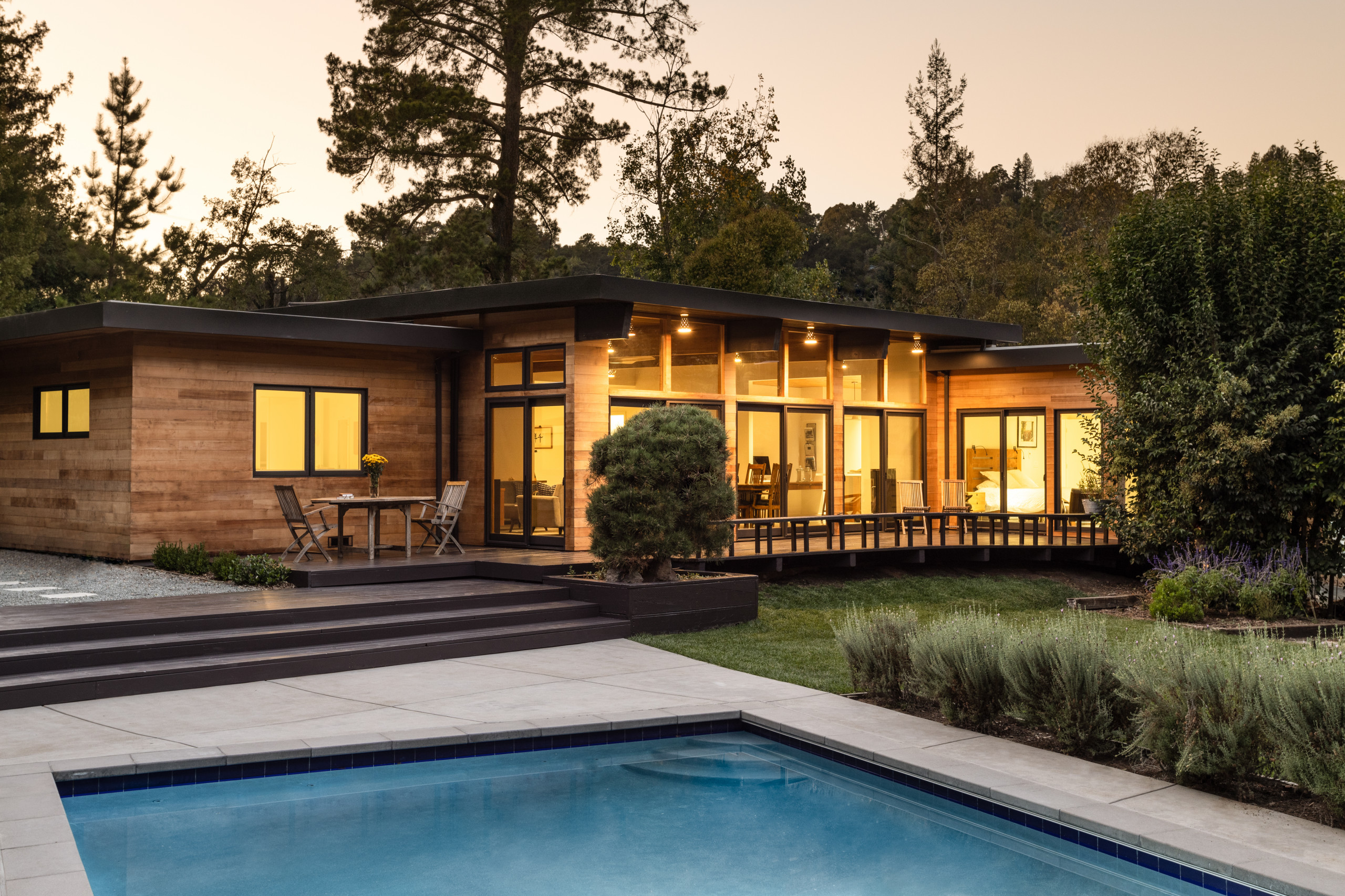 Contemporary Residence & Pool House