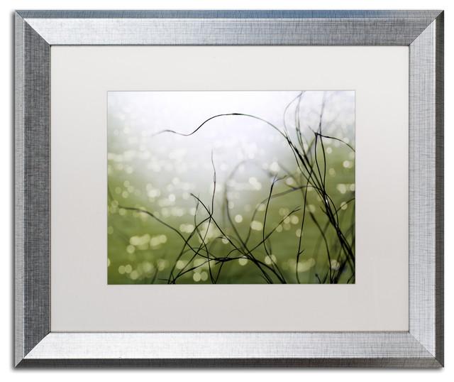 """Czyzowska Young &x27;the Dreaming Tree&x27; Art, Silver Frame, 16""""x20"""", White Matte."""