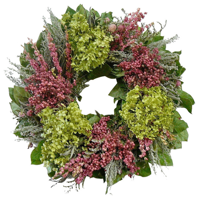 Sanders Preserved Flower Wreath, Small.