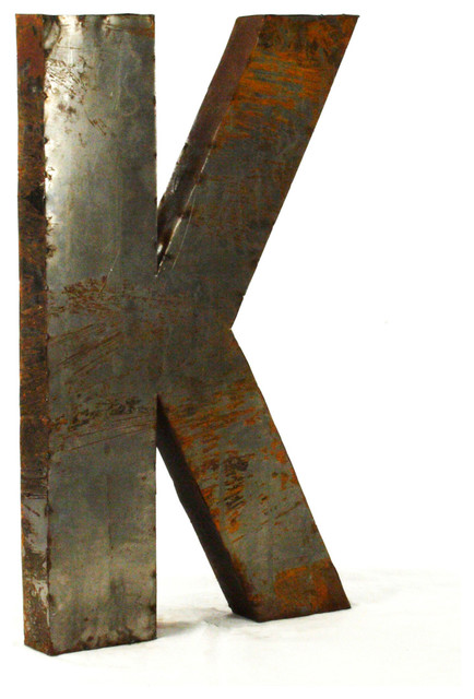 large metal letters industrial rustic metal small letter k 18 quot industrial 22690 | home design