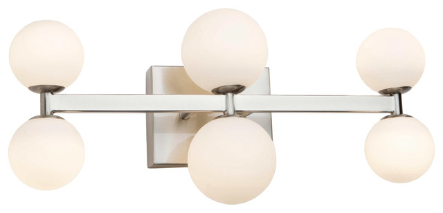 Hadleigh 6 Light Wall Sconce in Brushed Nickel