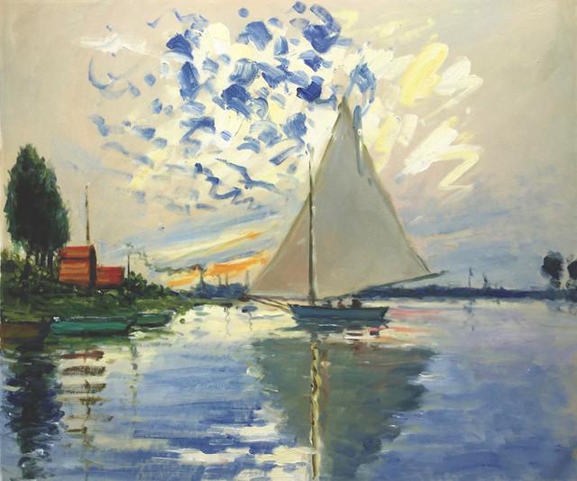 Sailboat at Le Petit-Gennevilliers