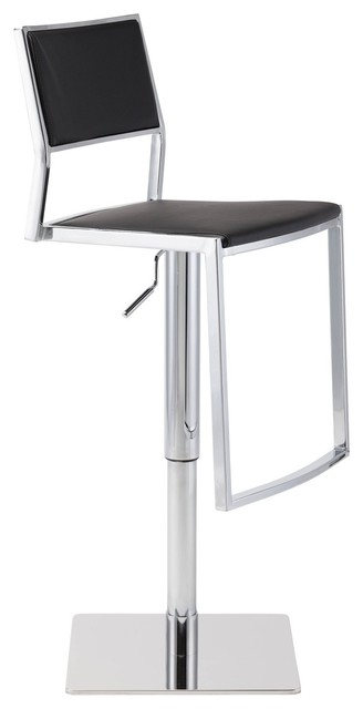 Pleasing Aaron Adjustable Bar Stool By Nuevo Living Black Machost Co Dining Chair Design Ideas Machostcouk