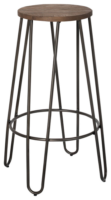 Sensational 26 Elm Metal Counter Stool Wood And Black Set Of 4 Squirreltailoven Fun Painted Chair Ideas Images Squirreltailovenorg