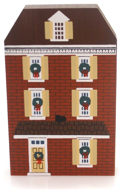 Cats Meow Village Elfreth&x27;s Alley Wood 1988 Philadelphia Christmas 0x88-03.