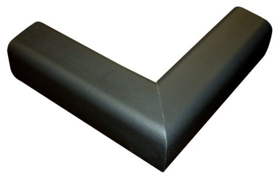 6.5&x27; Hearth Bumper Padding Kit With 2 Corners And 4&x27; Of Pad, Black.