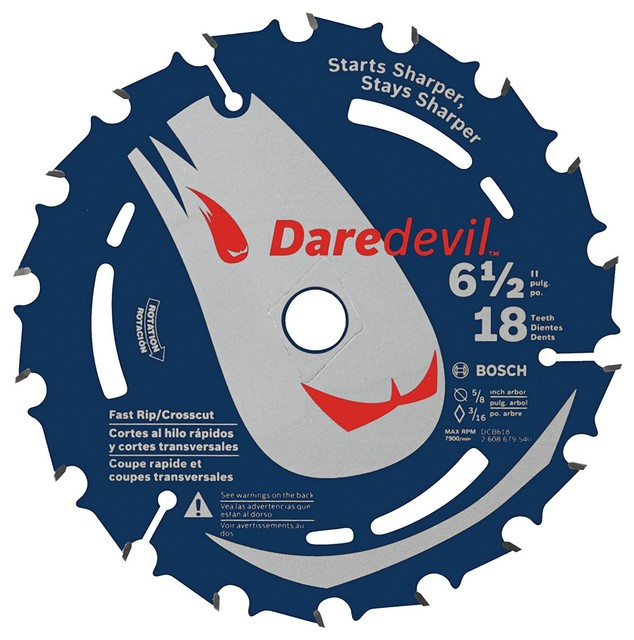 Bosch Dcb618 6-1/2 In. 18 Tooth Daredevil Portable Saw Blade.